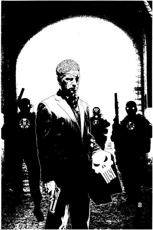 Punisher #13 - Fury - Black and White